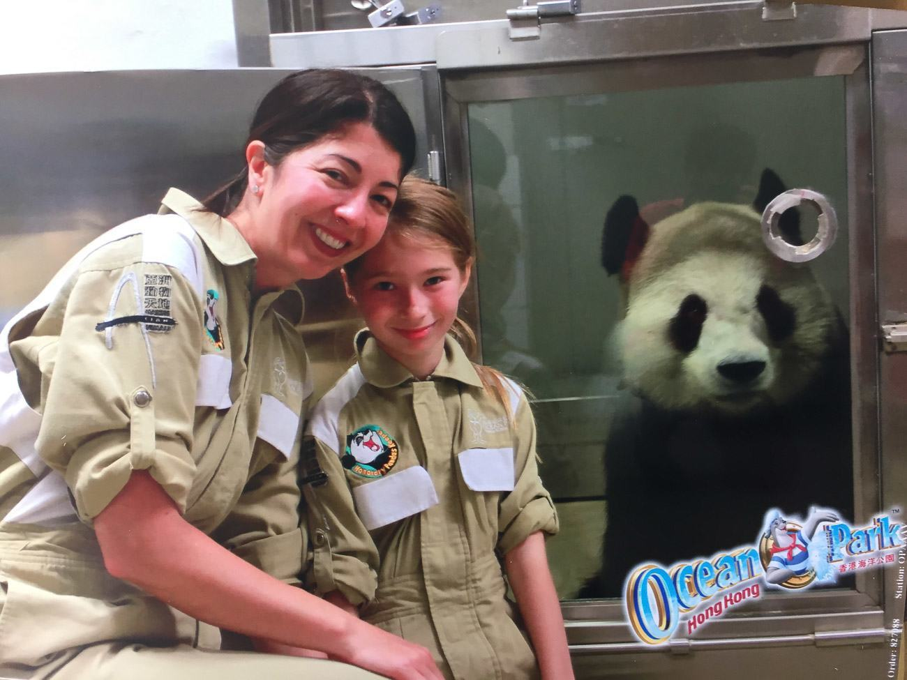 Participants in Ocean Park Hong Kong's panda keeper for a day get face-to-face with a giant panda!