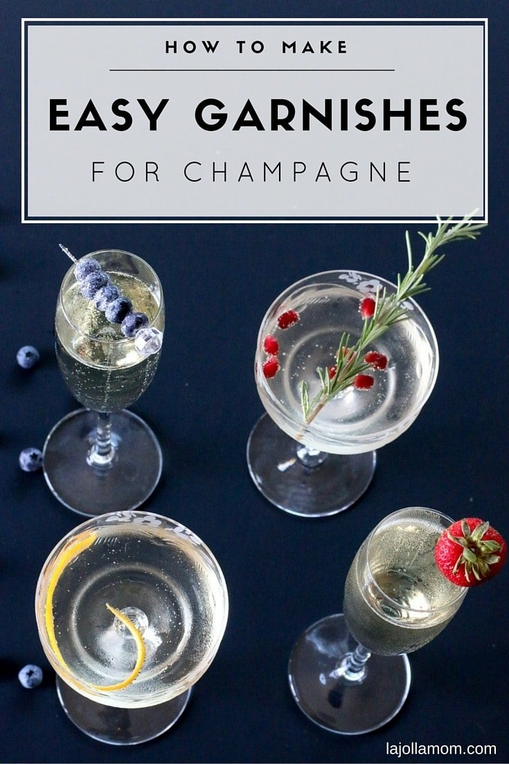 These simple garnishes will jazz up a champagne flute or coupe (as well as other cocktails) in seconds.