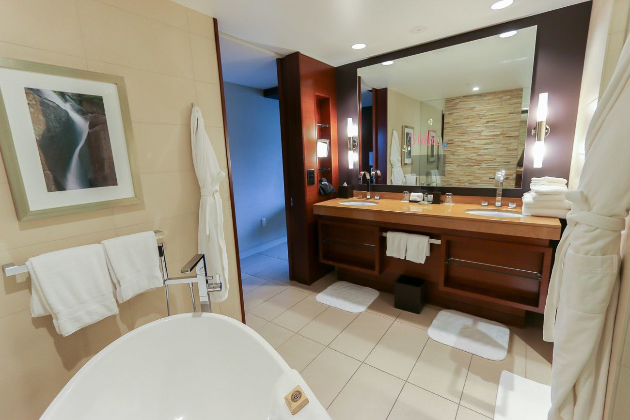 Four Seasons Hotel Denver has beautiful, spacious bathrooms with cool freestanding tubs