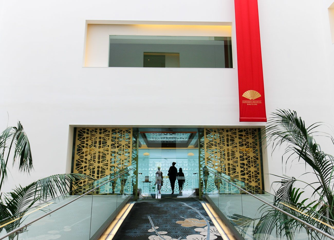 The catwalk entrance to Mandarin Oriental, Barcelona