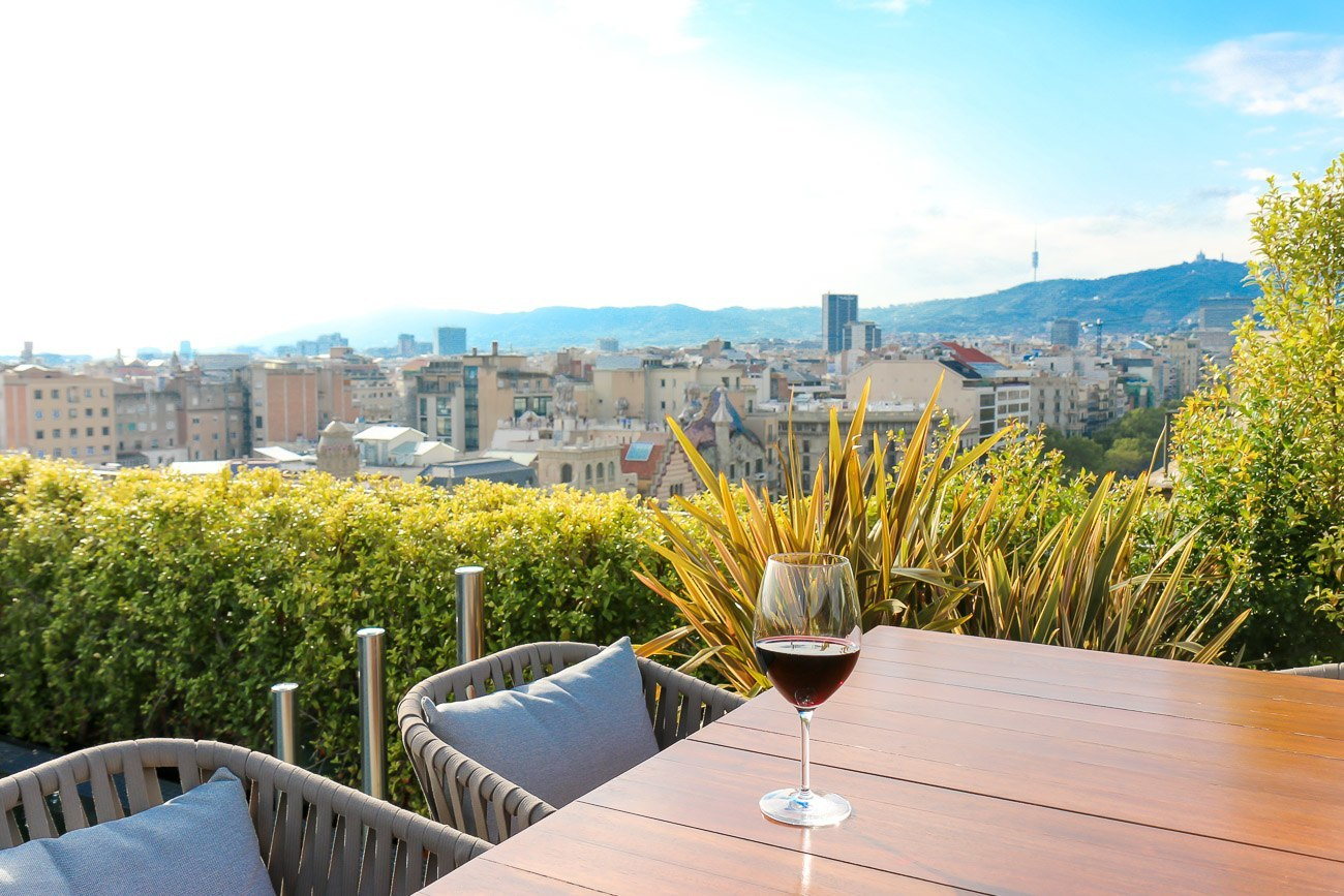 The view from Mandarin Oriental, Barcelona's Terrat rooftop restaurant is one of the best in the city