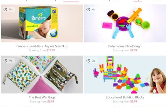 A New Deal App Offfers 90% off Products for Moms and Babies