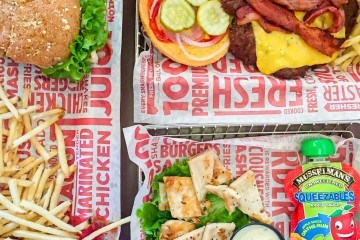 Smashburger restaurant has better-for-you kids' meal options.