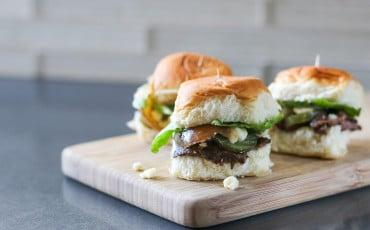 This recipe for blue cheese and onion sliders using beef made in a slow cooker is totally amazing. So simple and tasty!
