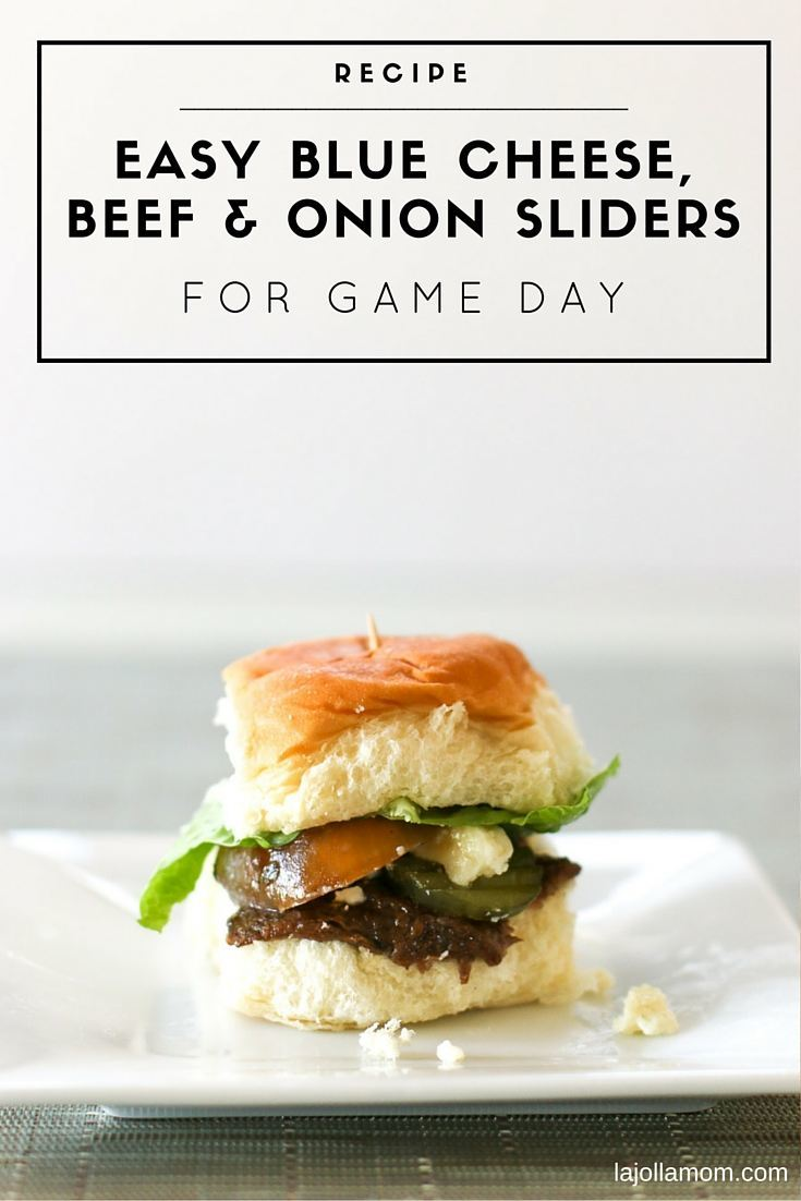 This blue cheese and onion slider recipe is amazing and so easy because the beef is cooked in a slow cooker!