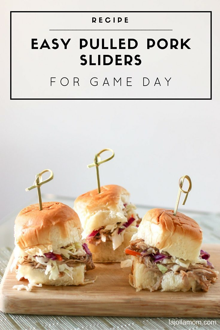 This easy slow cooker pulled pork slider recipe is perfect for game day or any day. Takes only a few minutes of prep.