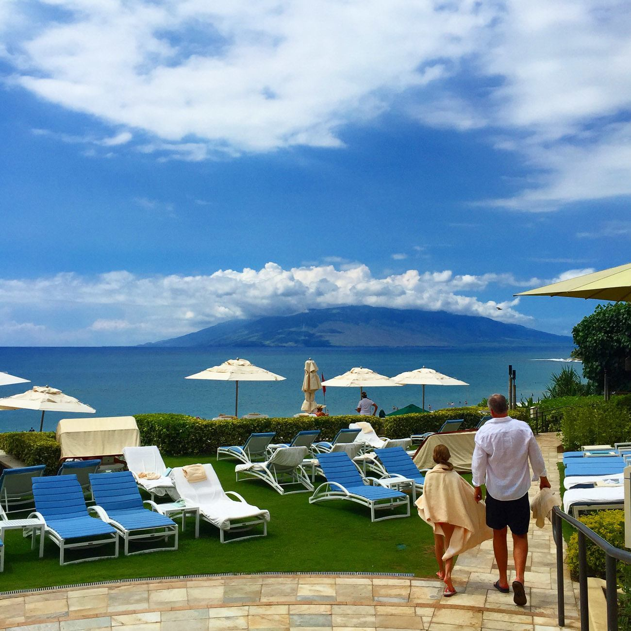 Lounging area near the beach at Four Seasons Resort Maui at Wailea