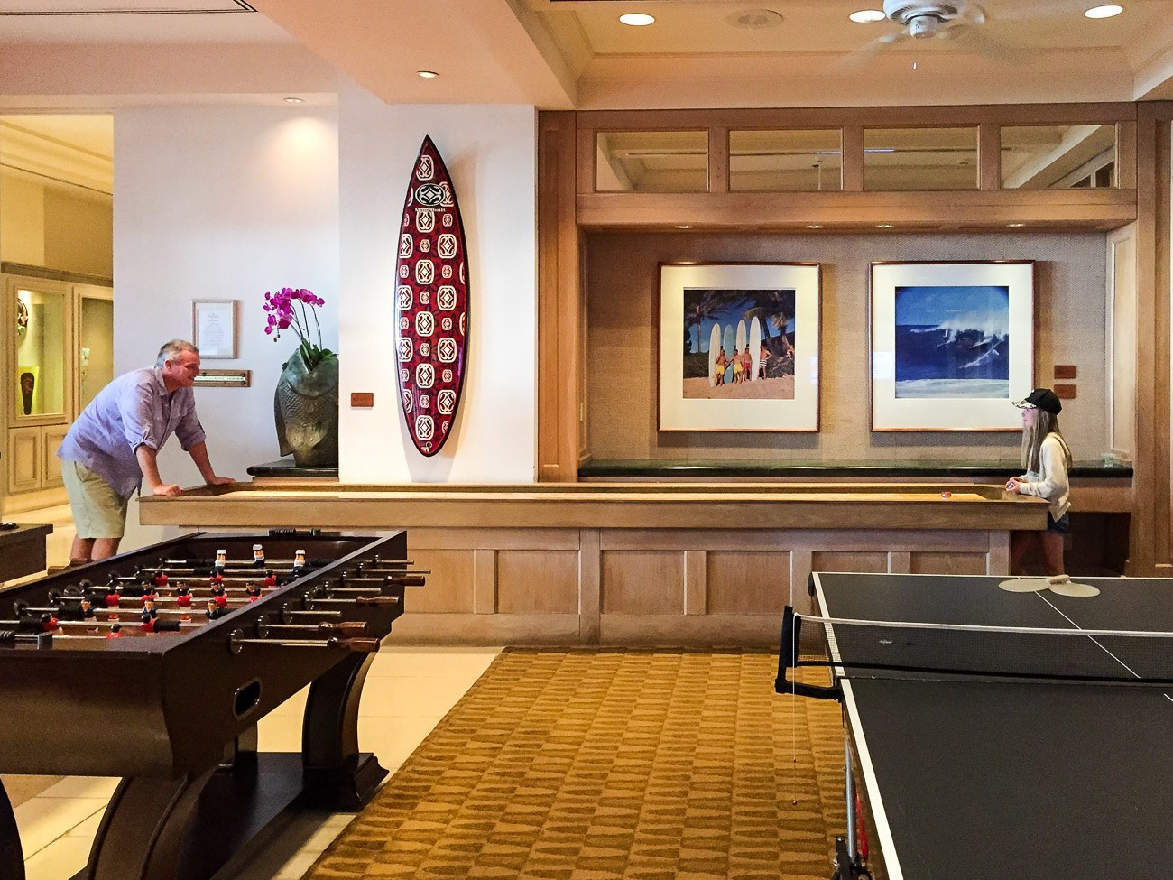 The game room at Four Seasons Resort Maui at Wailea