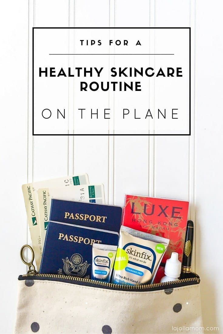 Learn how best to take care of your skin during long haul flights with good habits and a good products like Skinflx.