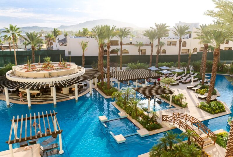 The adult pool at Hyatt Ziva Los Cabos in Mexico