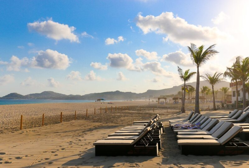 The beach in front of Hyatt Ziva Los Cabos in Mexico