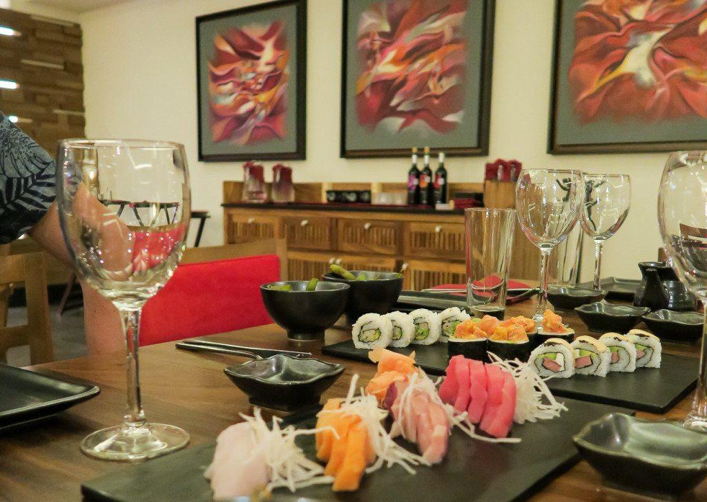 Sushi at Dozo, the Asian restaurant at Hyatt Ziva Los Cabos