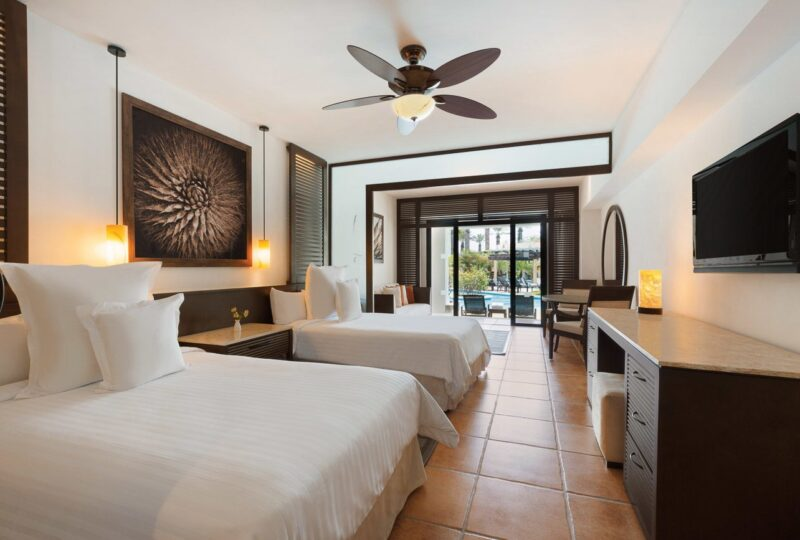A swim up double suite at Hyatt Ziva Los Cabos in Mexico
