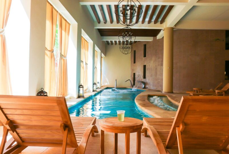 The gorgeous spa lounging facilities at Hyatt Ziva Los Cabos in Mexico