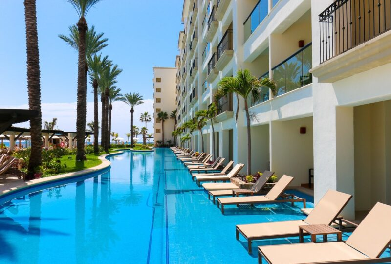 The swim up suites at Hyatt Ziva Los Cabos, a family luxury resort in Mexico