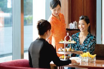 The Clipper Lounge at Mandarin Oriental, Hong Kong has the best afternoon tea in the city.