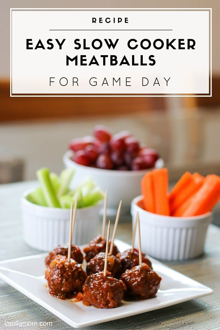 This recipe for Hawaiian slow cooker meatballs takes just a few minutes to assembleand is easy to serve with toothpicks on game day!
