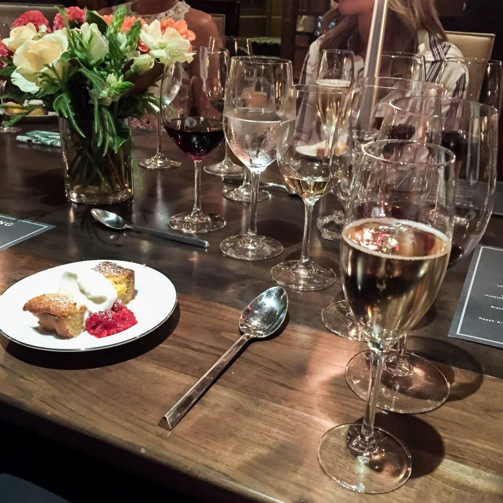 Dessert paired with Sterling wines at Rutherford House in Napa Valley