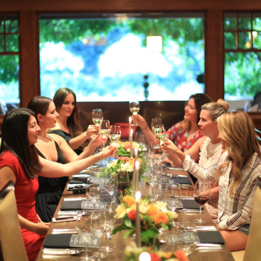 Dinner at Rutherford House in Napa Valley