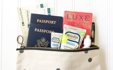 Tips for the best inflight skincare routine on long haul flights using natural products like Skinfix and more.