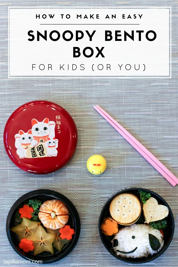 Lean how to make the easy Snoopy in this bento box lunch and add in other shaped food depending on what's in your fridge.