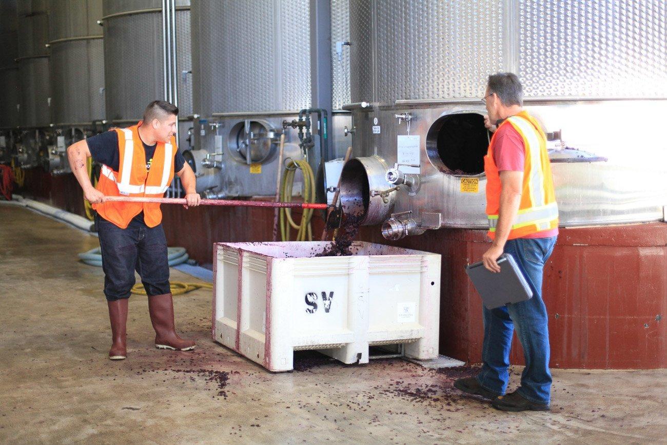 Behind-the-scenes at Sterling Vineyards in Napa Valley