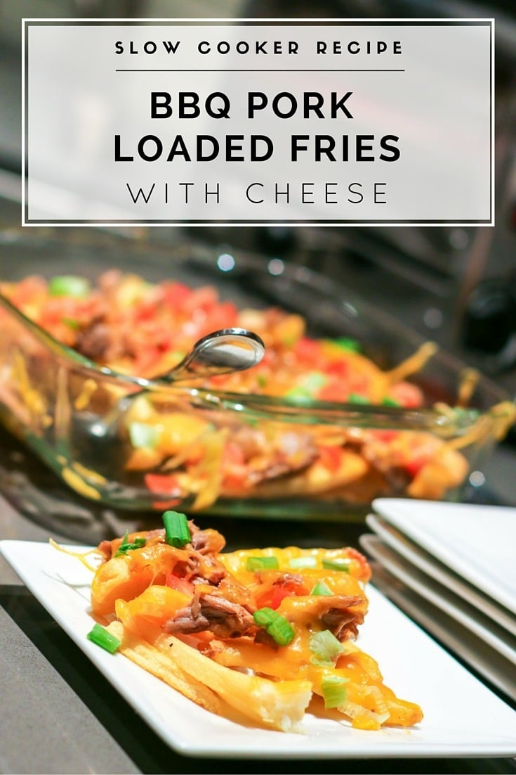This BBQ Pork Loaded Fries recipe is perfect for when you need an easy, hearty appetizer.