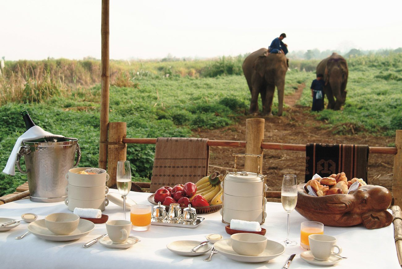 Breakfast at Four Seasons Tented Camp in Thailand