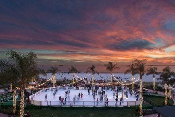 From the oceanfront ice skating rink to Victorian tea, here are things to do at the Hotel Del Coronado in San Diego during the holidays.