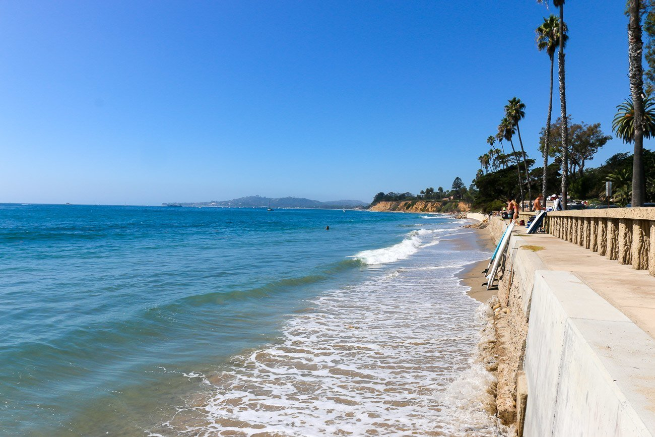 Butterfly Beach in Montecito is right in front of Four Seasons Resort The Biltmore Santa Barbara