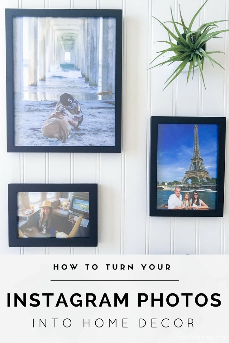 Snapfish makes it easy to turn Instagram photos into framed prints, canvas prints, blankets, pillows and other cool home decor.