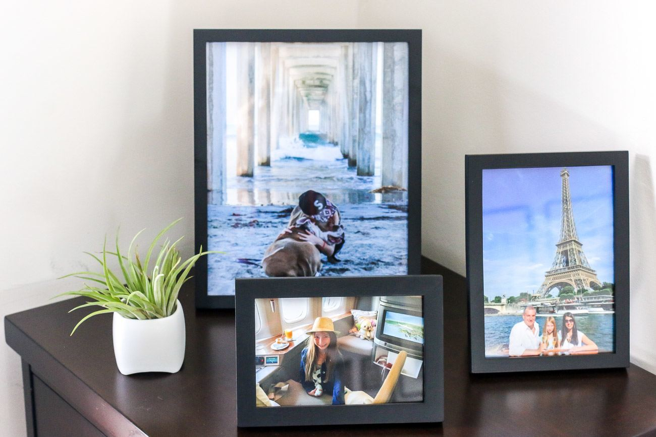 Photos from Instagram printed and framed by Snapfish for easy home decor.