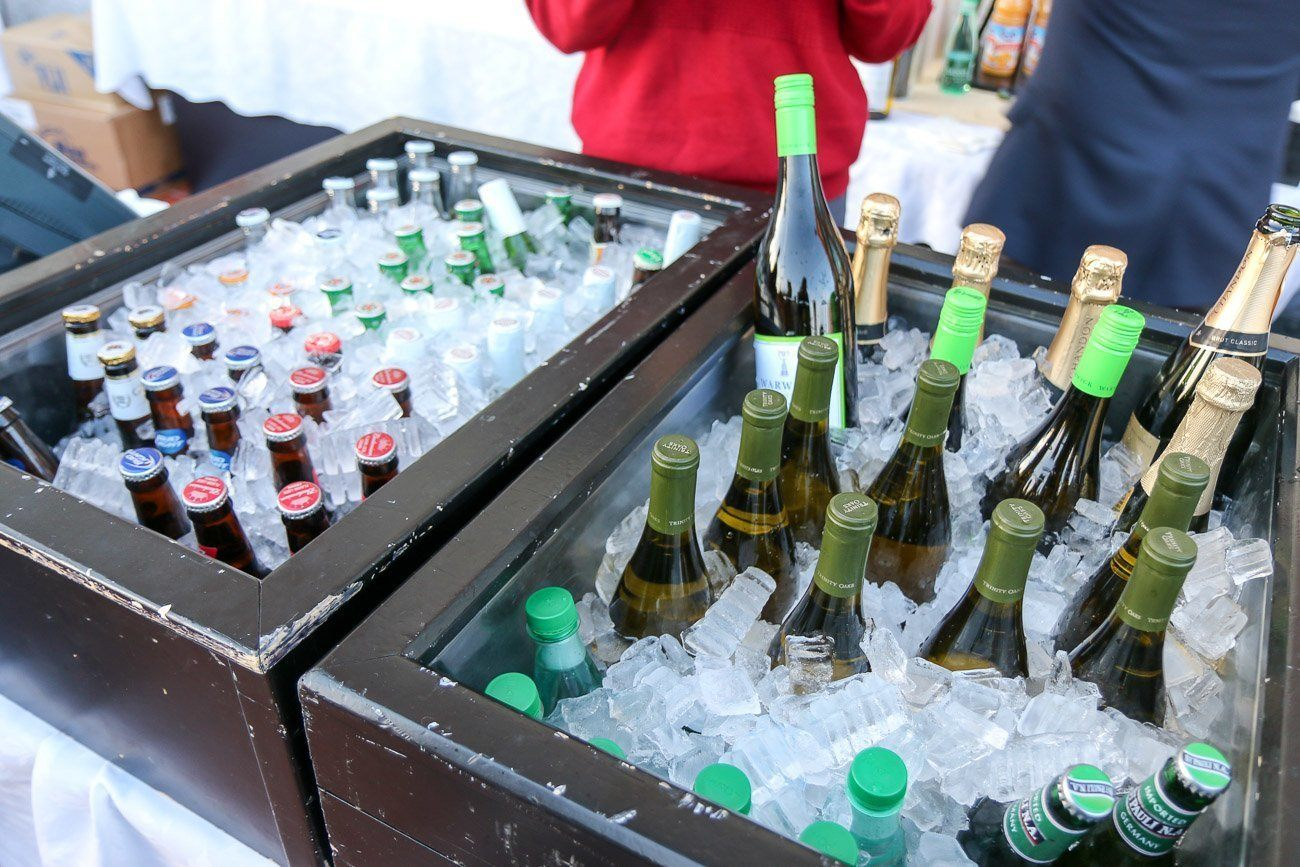 "Wine and beer kept parents from getting thirsty at Four Seasons Hotel Westlake Village's ""Let It Snow"" holiday event."