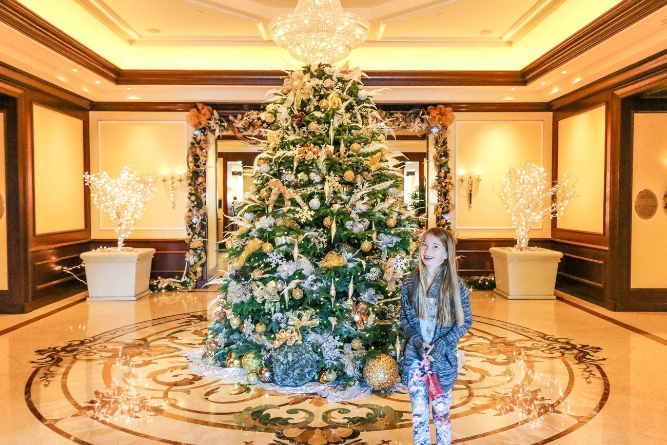 The Christmas tree at Four Seasons Hotel Westlake Village, California