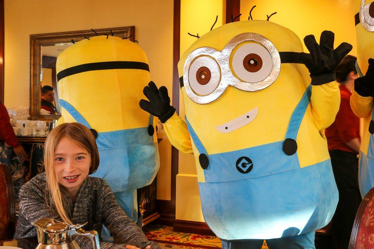 "The Holiday Character Breakfast at Four Seasons Hotel Westlake Village featured minions, elves and characters from the movie ""Frozen""."