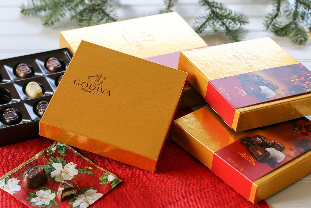 Gift Godiva chocolate from Target during the holidays.