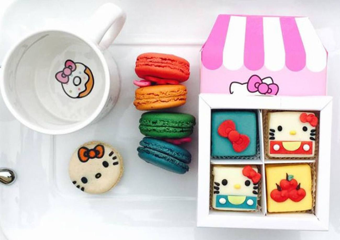 Hello Kitty Macarons and supercute treats will be offered by the Hello Kitty Cafe Truck.