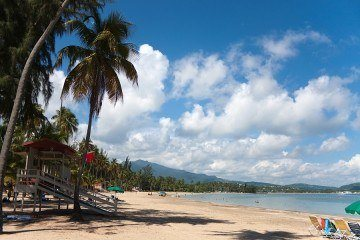 Beautiful Luquillo Beach in Puerto Rico