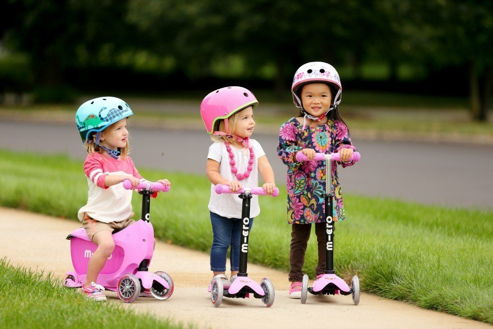 The Mini2Go, Micro Mini and Micro Maxi scooters for kids from Micro Kickboard
