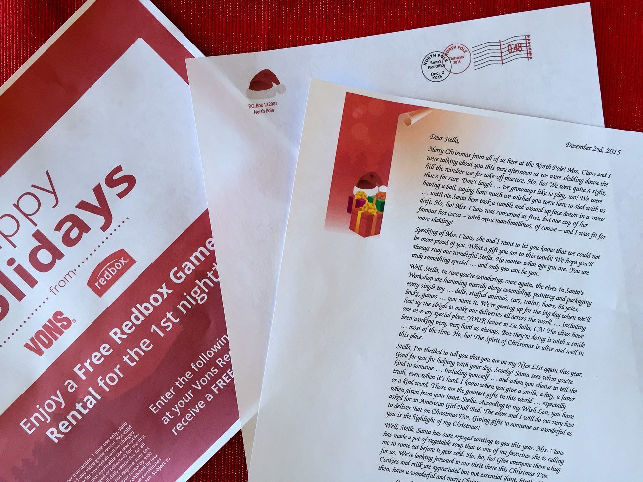 How to print a free letter from Santa to your child and earn coupons, too.