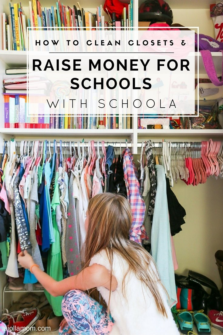 Clean out your closets and let the unworn clothes raise money for your child's school or the Malala fund through Schoola.