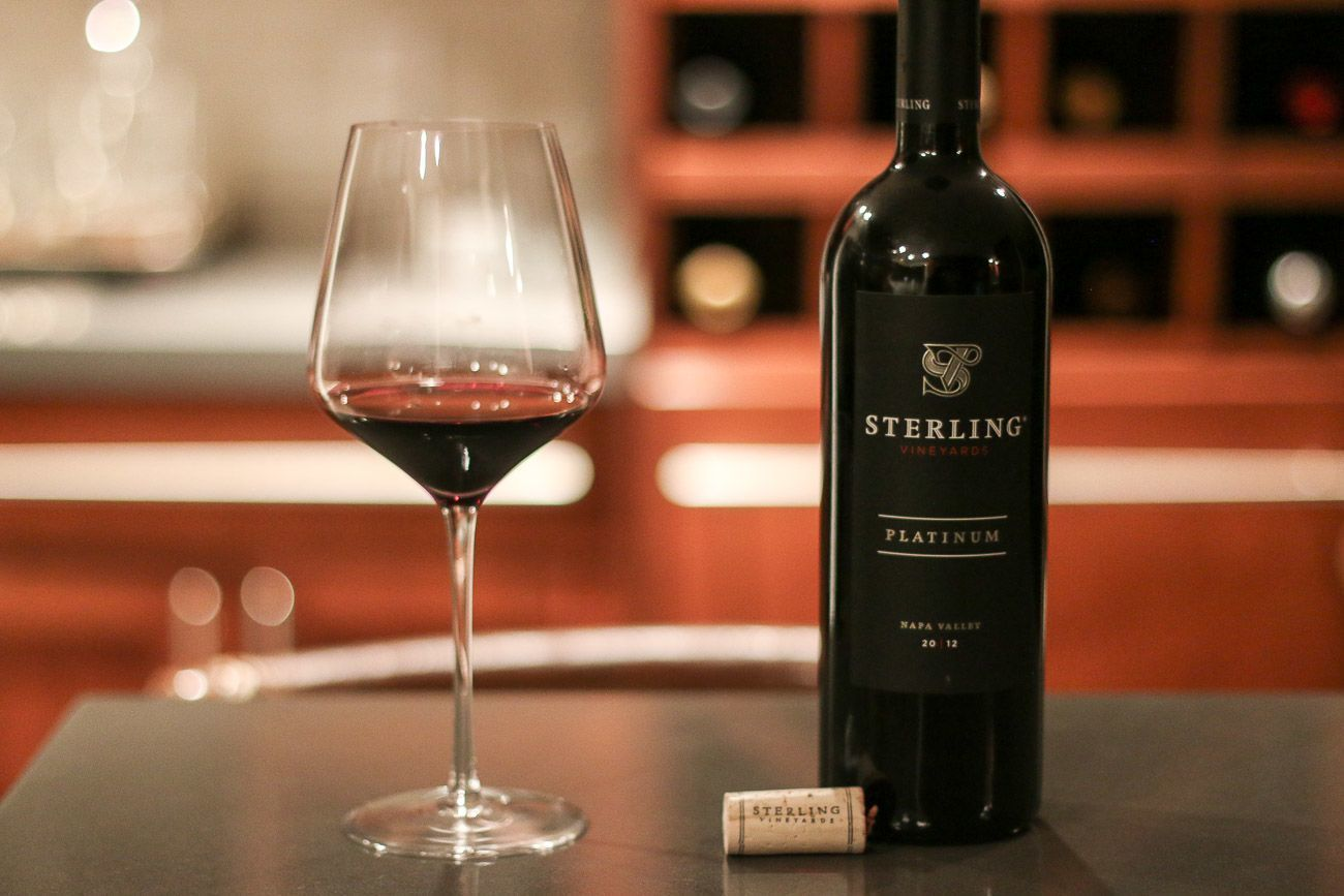 The Platinum red blend by Sterling Vineyards is outstanding
