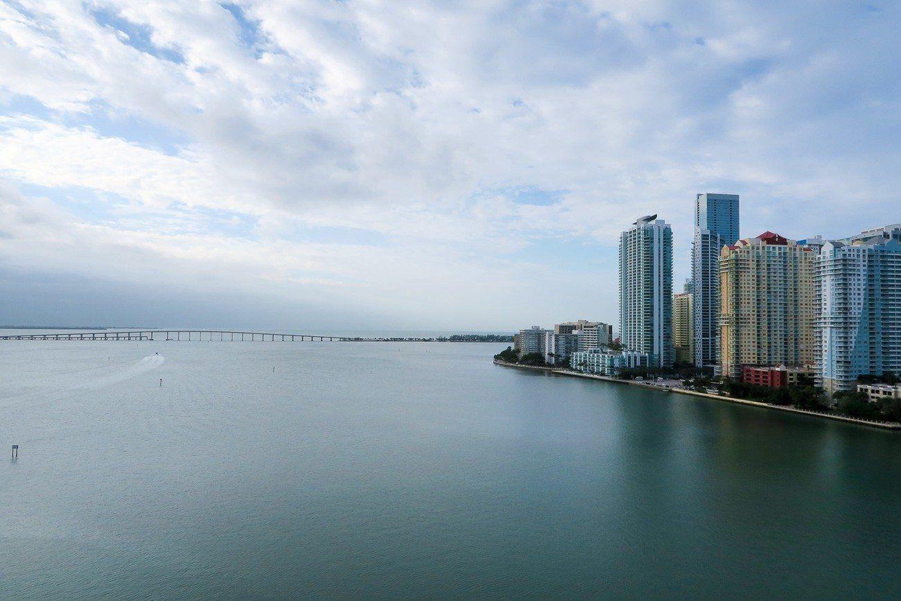The view of Biscayne Bay from our room at Mandarin Oriental, Miami