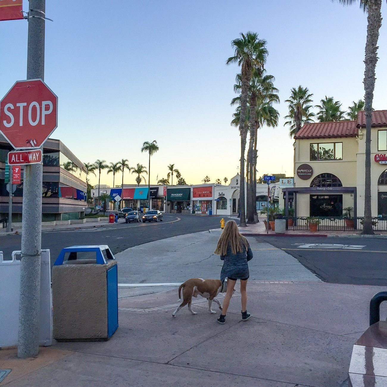 A walk around the pet-friendly Village of La Jolla while staying at Empress Hotel.