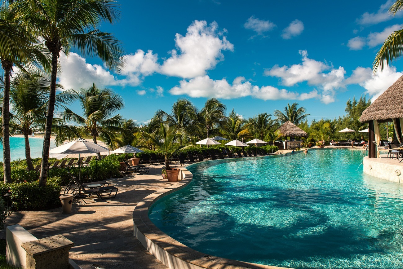 The stunning pool at Grand Isle Resort on Great Exuma in the Bahamas.
