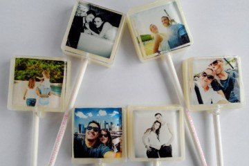 Turn Instagram photos of kids, travel or moments with your special someone into cute candy lollipops.