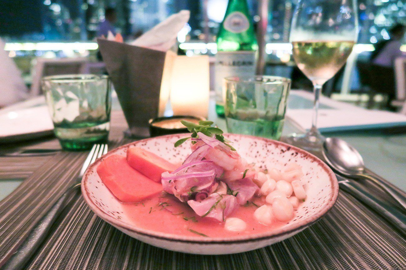 Mixed ceviche at La Mar by Gaston Acurio restaurant in Mandarin Oriental, Miami
