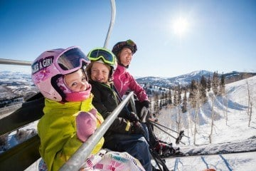 Book a family ski vacation to Park City, Utah during spring break.