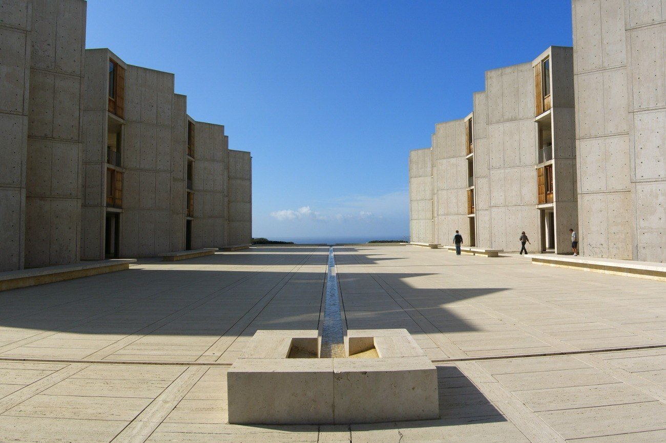 The Salk Institute in La Jolla is one of the most popular places for architectural photography and Instagram in San Diego.