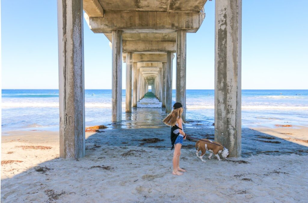 Beneath Scripps Pier is one of the most popular places for photography in La Jolla and San Diego (very frequently seen on Instagram, too).